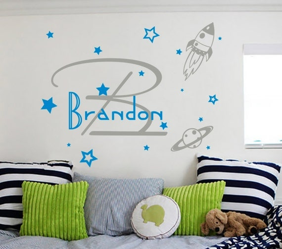 Name Monograms Wall Decals Boy