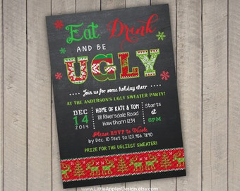 ugly sweater invitation / ugly sweater party / ugly sweater party invitation / ugly christmas sweater party invitation / ugly sweater invite