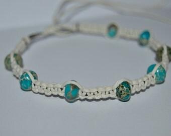 Chariote Stone Hemp Bracelet