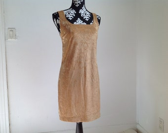 Gold Velour Dress - Small