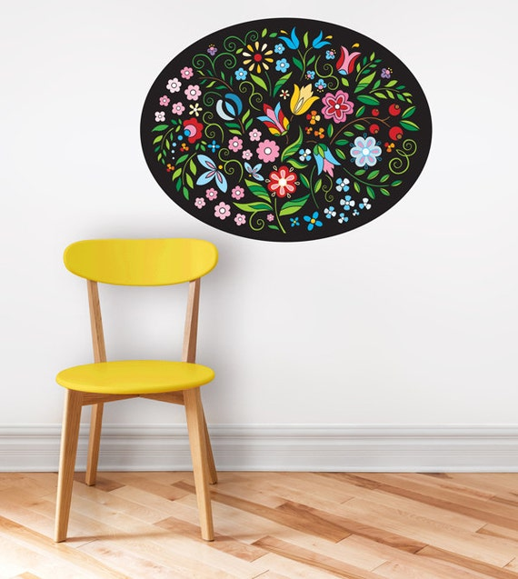 boho wall decal wall sticker colorful flower by durido on etsy wall decals amp murals etsy au