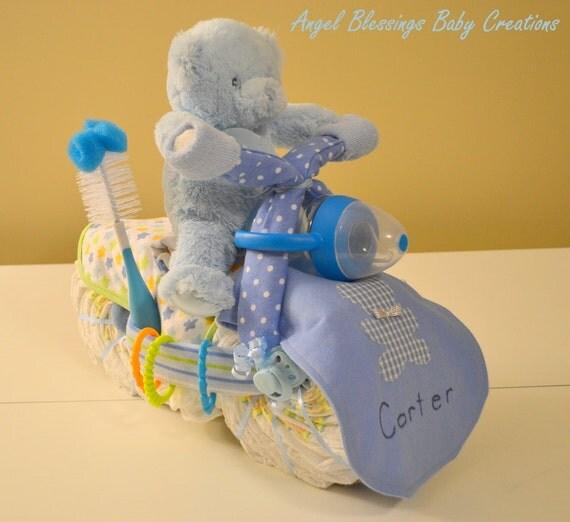 Motorcycle Diaper Cake Supplies