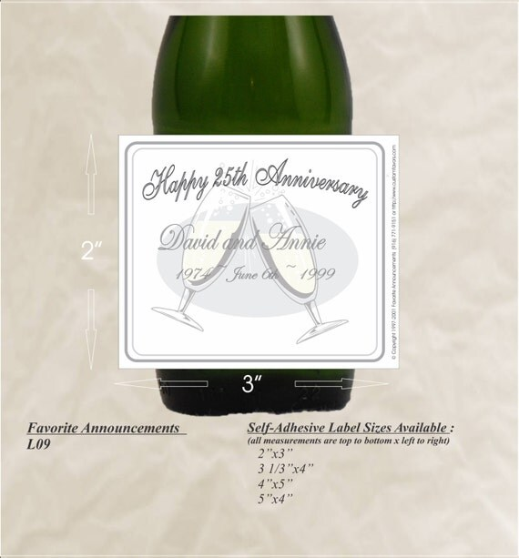 Silver Wedding Anniversary Gowns: 25th Anniversary Custom Labels Silver Anniversary Happy
