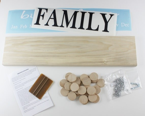 Family Celebration Board Family Birthday Board Diy Kit