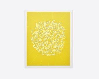 Good Thoughts - Roald Dahl Print