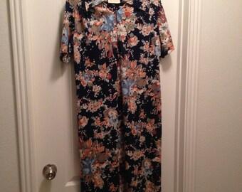 Vintage Floral Dress by Flutterby