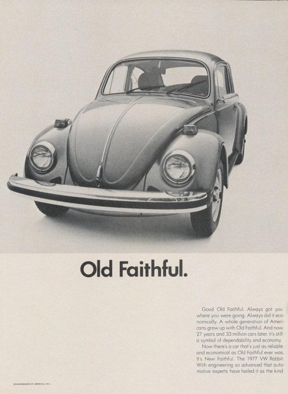 vw volkswagen beetle  rabbit car photo ad