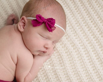 Bow Headband, Pink Headband, Pink Bow Headband, Pink Bow, Girl Headband, Newborn Headband, Baby Headband, Photography Prop, Photo Prop