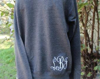 Scoopneck Sweatshirt Custom Hip Monogram