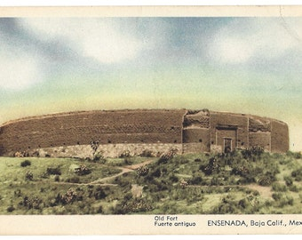 Vintage Postcard - Old Fort - Fuerte Antiguo - Ensenada Baja California Mexico