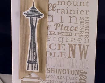Space Needle Card with envelope