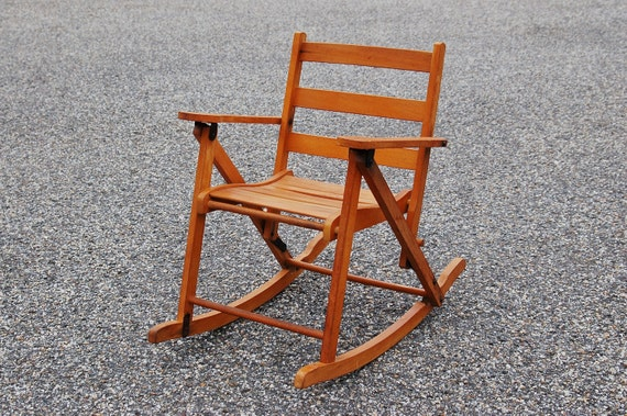 Child s Folding Rocking Chair Nevco Child s Oak