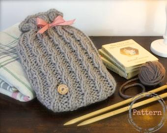 Knitting Pattern For Hot Water Bottle Cozy : HOT WATER BOTTLE COZY KNITTING PATTERN   KNITTING PATTERN