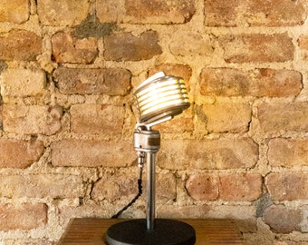 Vintage Turner 34X LED Microphone Lamp