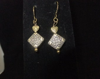 Antique Gold Medallion Earrings
