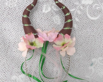 Young Maleficent Horns, Fairy Headress, Brown Horns , Headpiece, Maleficent Headband, Woodland Fairy, Maleficent Costume, Woodland Horns