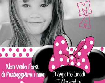 Minnie Personalized Birthday Invitation card