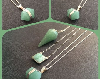 Double crystal prism - aventurine