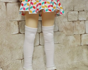 bjd msd  clothes,Skirt pleated multi