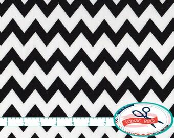 BLACK & WHITE CHEVRON Fabric by the Yard, Fat Quarter Black and White Fabric Fabric Black Quilting Fabric Apparel 100% Cotton Fabric a2-35