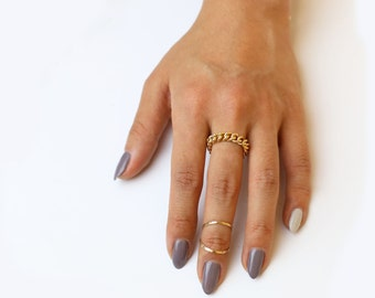 Midi knuckle Ring in 14K gold filled and Sterling Silver