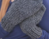 Super Bulky Mittens - Charcoal - Unisex