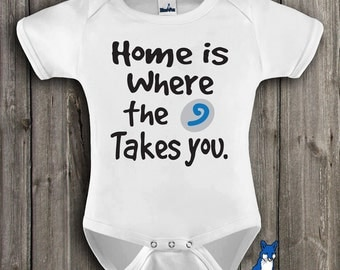 Funny baby, Geekery baby, infant bodysuit, home is where the hearth takes you, baby one piece, WOW, Warcraft, by BlueFoxApparel *212