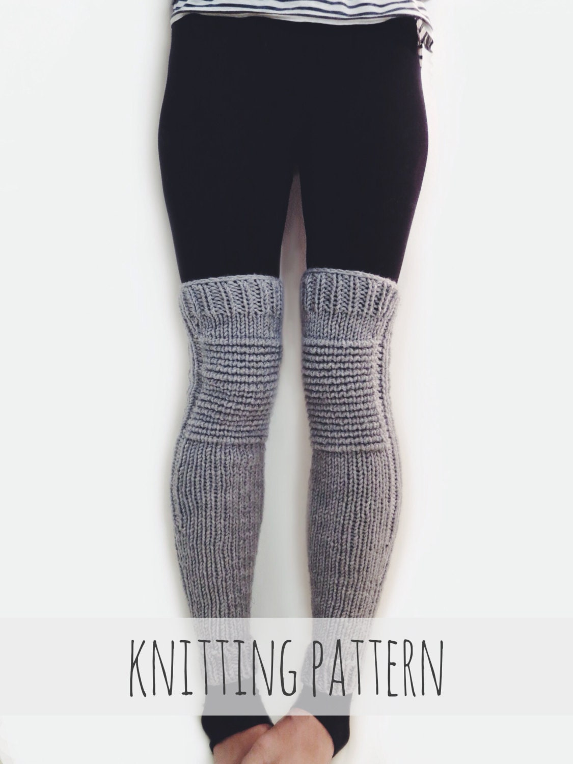 Knit Leggings Pattern : PATTERN for Knit Leg Warmers Motorcycle Padded Quilted