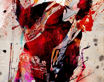 Jim Morrison Art, The Doors Painting, Classic Rock Art Print