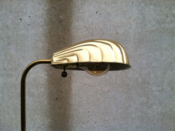 Vintage Brass Floor Lamp Alsy Brass Pharmacy Floor Lamp Clam