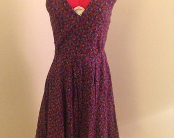 Purple and Red Floral Sundress