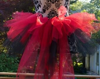 Tutu Bustle - Red & Black Tutu - Red Bustle - Bikini Bustle - Halloween Tutu