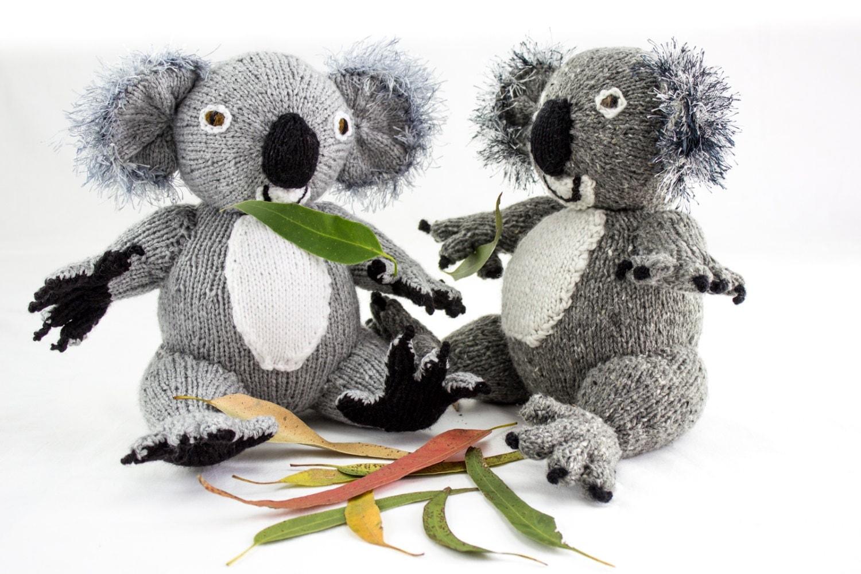 KNITTING PATTERN, Koala Knitting Pattern, Toy Knitting Pattern, Australian Ko...