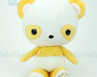 "Bellzi® Cute ""Yellow"" w/ White Contrast Panda Stuffed Animal Plush - Pandi"