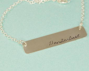 Wanderlust Bar Necklace in Sterling Silver