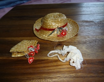 Doll Hat, purse and hankie