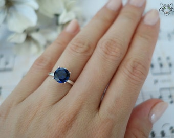 Popular items for man made blue sapphires on etsy for Man made sapphire jewelry
