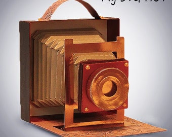 3D SVG Vintage Camera DIGITAL download
