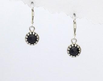 Angeline Quinn Vintage Inspired Black Onyx Earrings