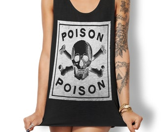 Poison Tank Top - Occult Tank - Occult Print Graphic Tank - Graphic Tee - Graphic Tank Top - Occult Shirt