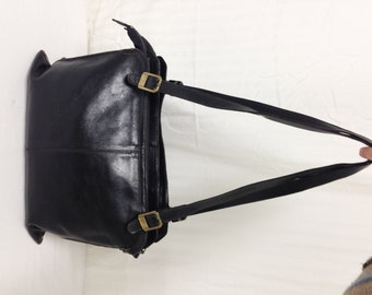 Phillippe, Leather tote ,purse,Black,Leather purse,bag, Shoulder Bag