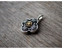 Slavic Molvinets Pagan  pendant Gold Plated Silver Protect Evil Necklace