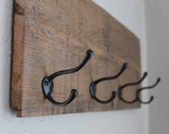 Coat rack, wooden coat rack, entry coat rack, rustic coat rack, | on Reclaimed Barn Wood
