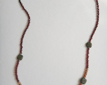 Red Creek Jasper and Garnet beaded Necklace