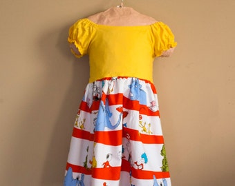 Dr. Seuss Peasant Style Dress- Sizes 6 Months- 10 girls