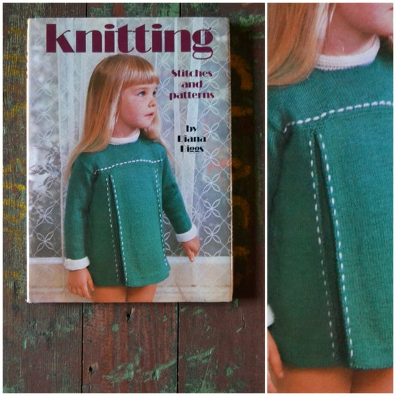 Knitting Stitches And Patterns Diana Biggs : Vintage craft book KNITTING Stitches and patterns by Diana