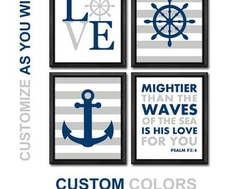 Bible verse nautical baby nursery decor anchor wheel childrens for Bible verses for kids rooms
