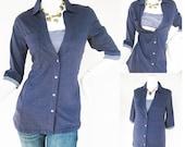 ANNA Shirt /  Maternity Clothes / Nursing Top / Breastfeeding Top / NEW Original Design NAVY / Nursing Tops for Breastfeeding