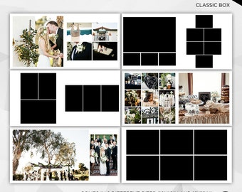15 Spreads (30 Pages) 10x10 and 12x12 Photo Album Template for Photographer - INSTANT DOWNLOAD - AP002