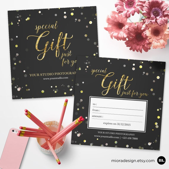 Photography Gift Certificate Template For By Mioradesign